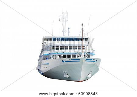The image of a ship under the white background