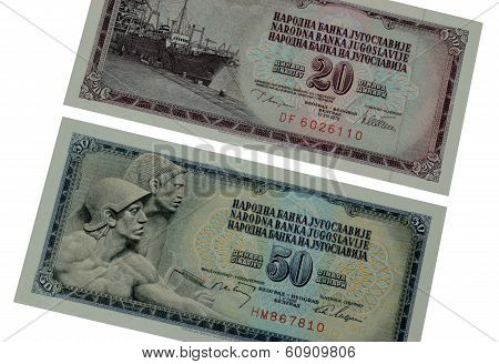 Old Yugoslav paper money