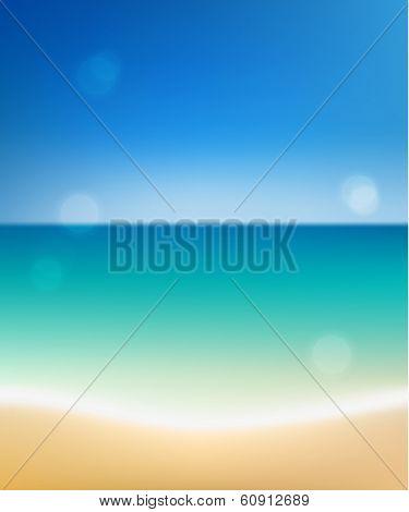 Summer beach with defocused lights  - raster version