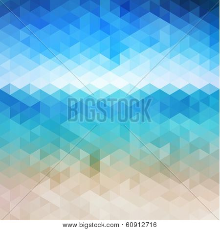Abstract beach triangular pattern - raster version
