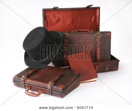 Mens Briefcase With Top Hat  Journal