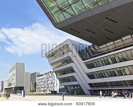 The New Building Of The Public University Of Economics Of Vienn