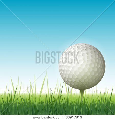 Realistic golf background vector illustration