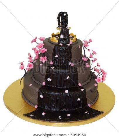 Chocolate Fountain Iced Cake