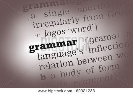 Grammar Dictionary Definition