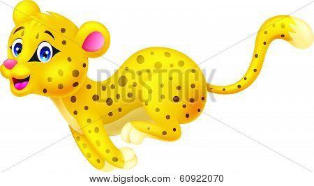 Cheetah cartoon running