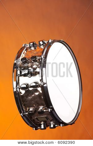 Snare Drum Copper Isolated
