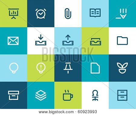 Office icons Flat