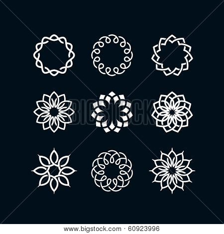 Abstract flower symbols