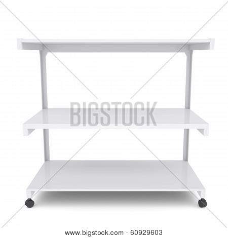 Office shelving unit on wheels