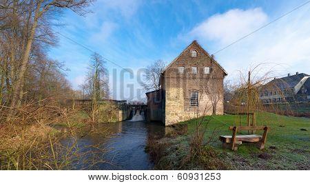 Water Mill In Dorsten-deuten, Germany
