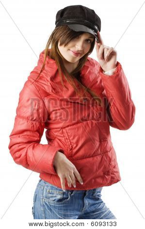 Red Anorak Black Cap