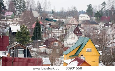 Suburb Dacha Settlement In Russia