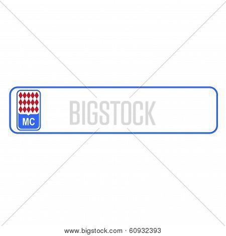 Monaco plate number, Europe