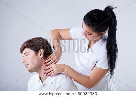 Massaging A Neck