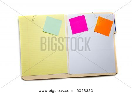 Manilla Folder With Notes