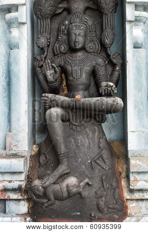 Dakshinamurthy, The Avatar Of Lord Shiva, At Rathinagiri Hill Temple.