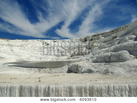Winter-like Landskape In Pamukkale