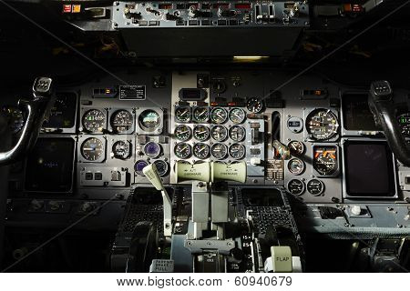 Cockpit Of The Airplane