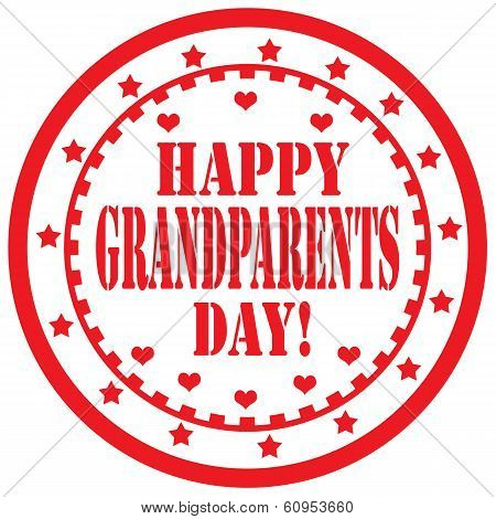 Happy Grandparents Day-label