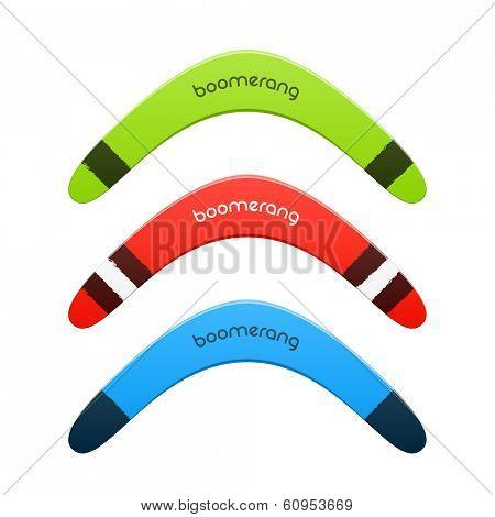 Boomerang. Vector.