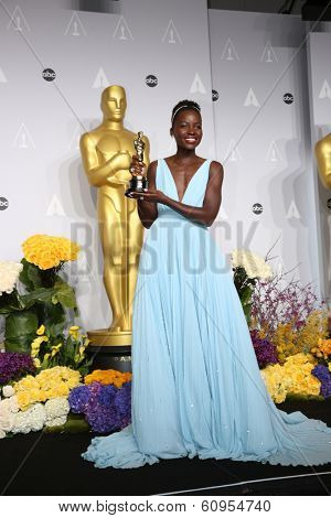 LOS ANGELES - MAR 2:: Lupita Nyong'o  in the press room at the 86th Annual Academy Awards on March 2, 2014 in Los Angeles, California