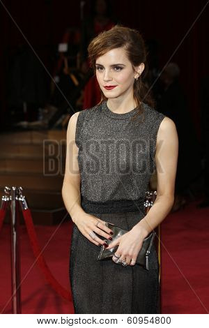 LOS ANGELES - MAR 2:: Emma Watson  at the 86th Annual Academy Awards at Hollywood & Highland Center on March 2, 2014 in Los Angeles, California