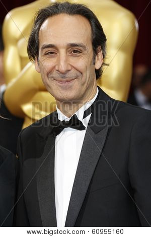 LOS ANGELES - MAR 2:: Alexandre Desplat  at the 86th Annual Academy Awards at Hollywood & Highland Center on March 2, 2014 in Los Angeles, California