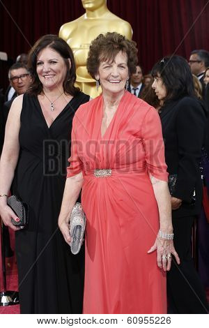 LOS ANGELES - MAR 2:: Philomena Lee, daughter  at the 86th Annual Academy Awards at Hollywood & Highland Center on March 2, 2014 in Los Angeles, California
