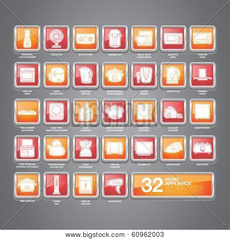 Home Appliances Icons Hydra