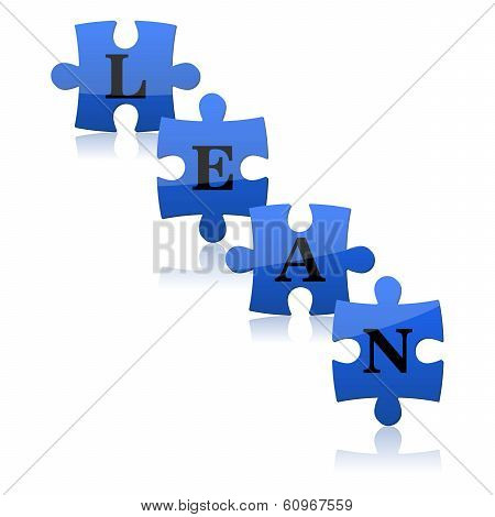 Blue Puzzles With Word Lean