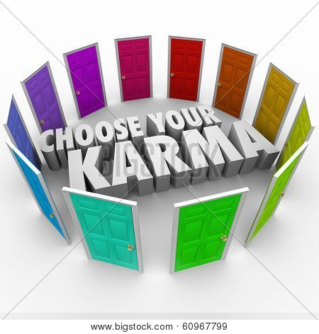 Choose Your Karma Words Door Circle Choices Destiny