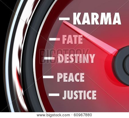 Karma Speedometer Measure Level Fate Destiny Justice