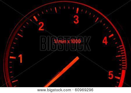 Illuminated Diesel Car Tachometer