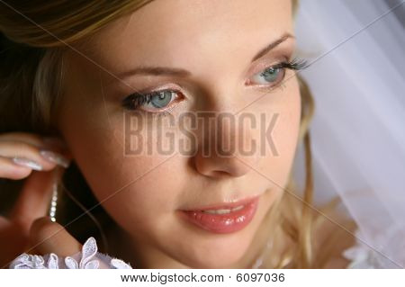 Bride with earring