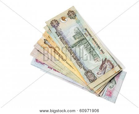 UAE Dirhams assorted currency notes