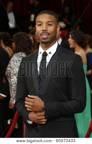 LOS ANGELES - MAR 2: Michael B Jordan  at the 86th Annual Academy Awards at Hollywood & Highland Center on March 2, 2014 in Los Angeles, California