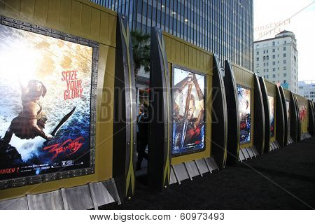 LOS ANGELES - MAR 4: Poster at the Premiere of '300: Rise Of An Empire' held at TCL Chinese Theater on March 4, 2014 in Los Angeles, California