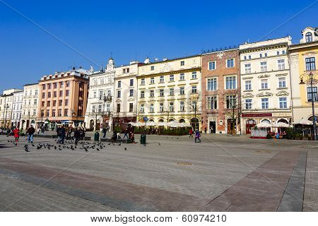 North Frontage Of The Market Square, Krakow