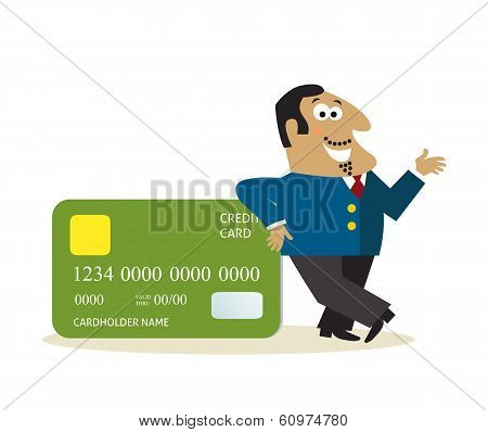 Business man with credit card