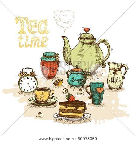 Tea time still life
