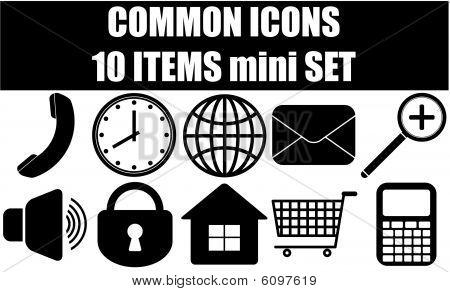 Ícones comuns