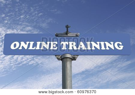 Online training road sign
