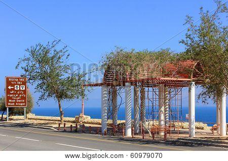 Embankment Near The Dead Sea, Beach Ein Gedi, Israel