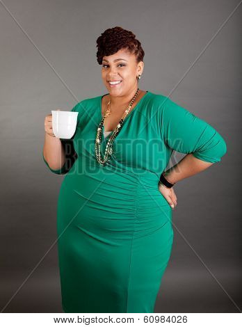 Plus Sized Business Woman