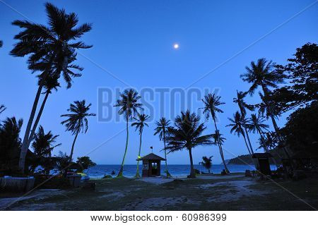 Moon Before Sunrise