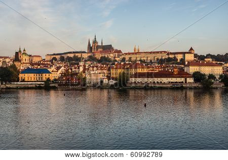 Prague Castle with the St. Vitus Cathedral