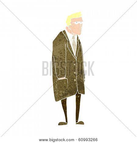 cartoon bad tempered man