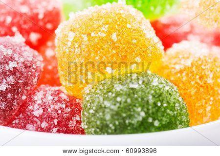 Pile of colorful hard jujube