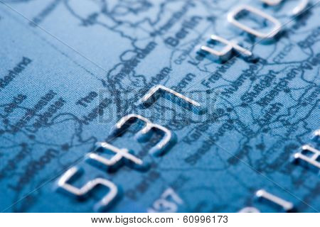 macro shoot of a credit card